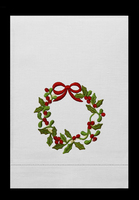 G1198-C - Christmas Wreath Guest Towels