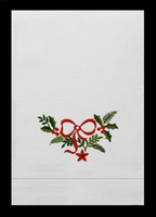 G62215-C - Christmas Bowknot Guest Towels