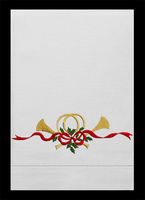 G82568-C - Christmas Horn Guest Towels