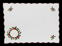M64065C - Holiday Wreath Placemats